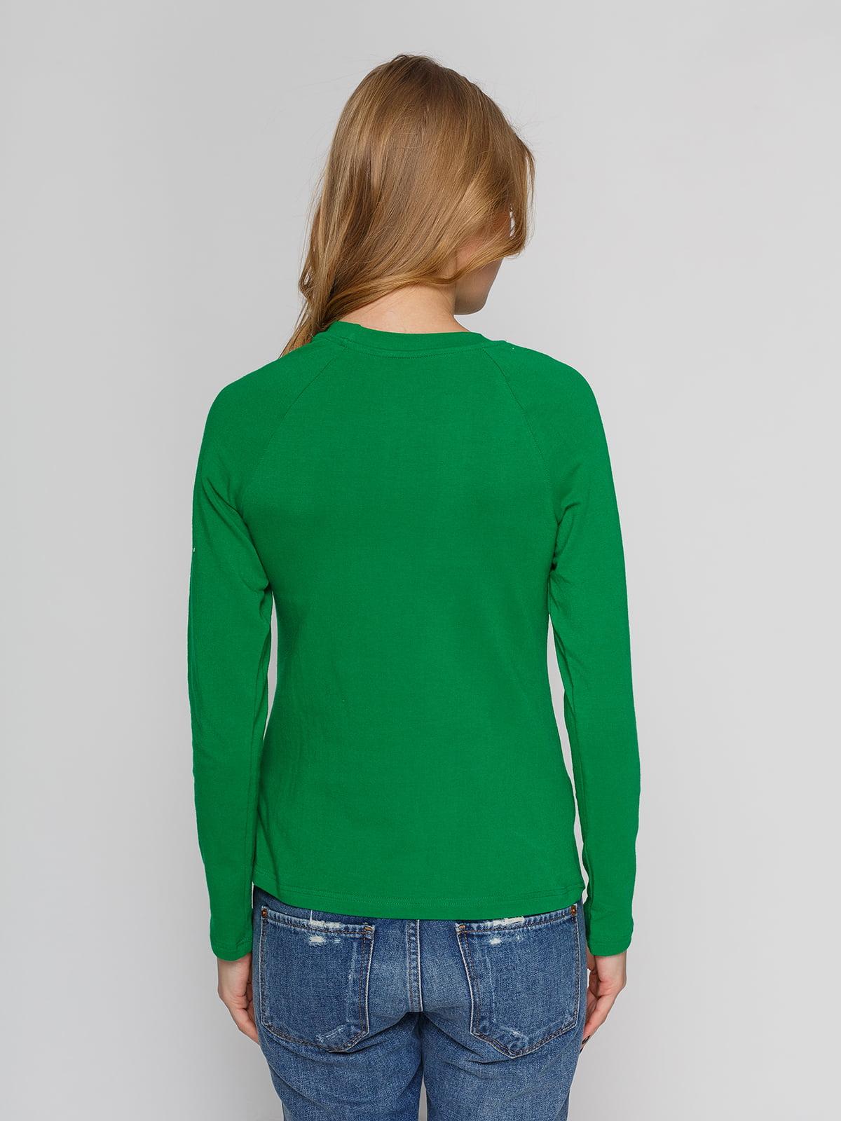 Реглан зеленый с принтом | 4861802 | фото 2