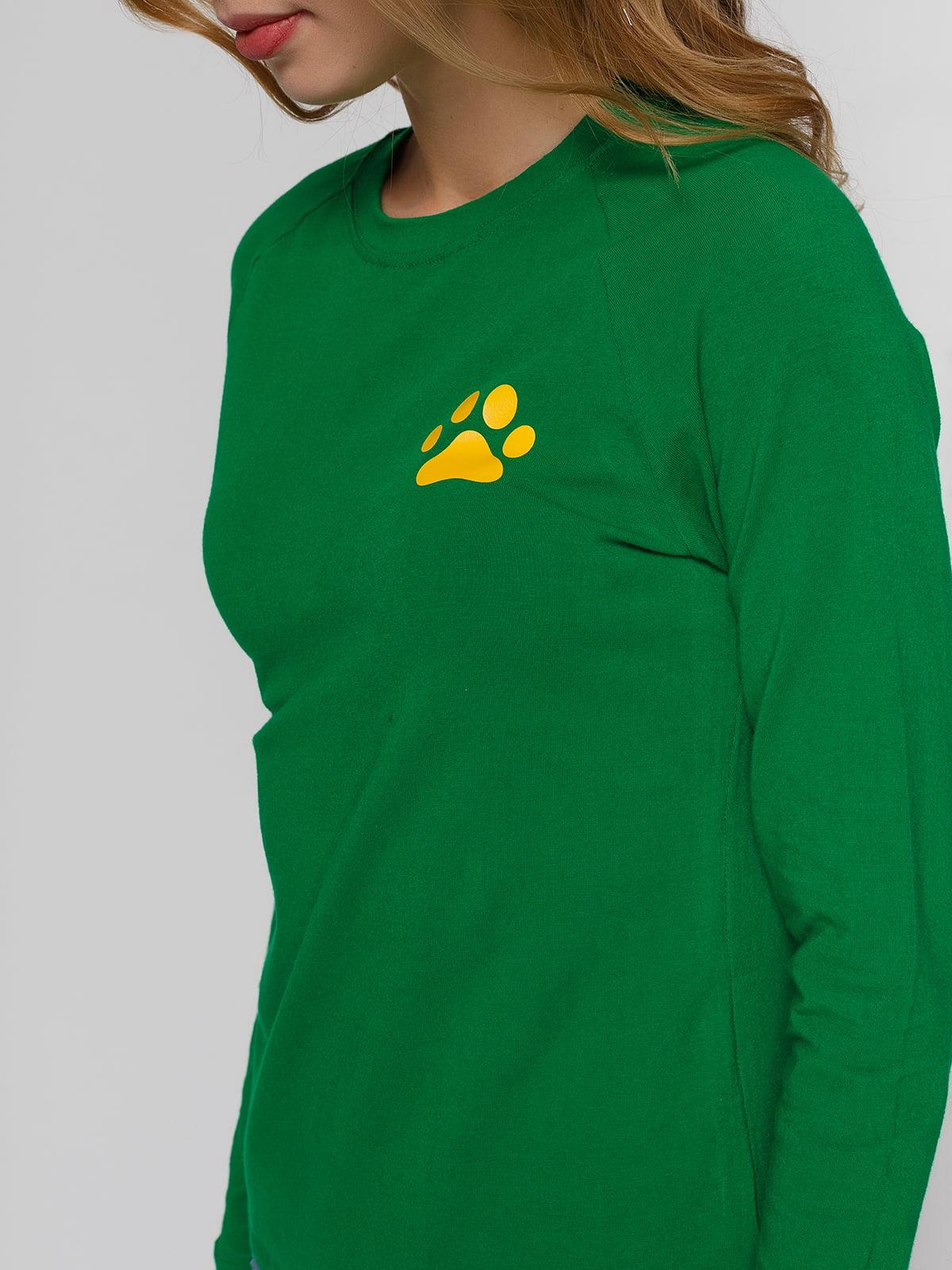 Реглан зеленый с принтом | 4861802 | фото 3