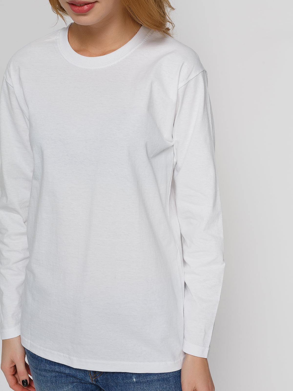 Лонгслив белый | 4861746 | фото 3