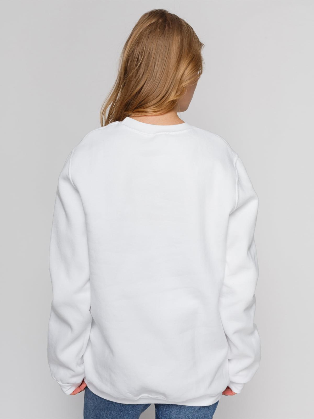 Свитшот белый с принтом   4861876   фото 2