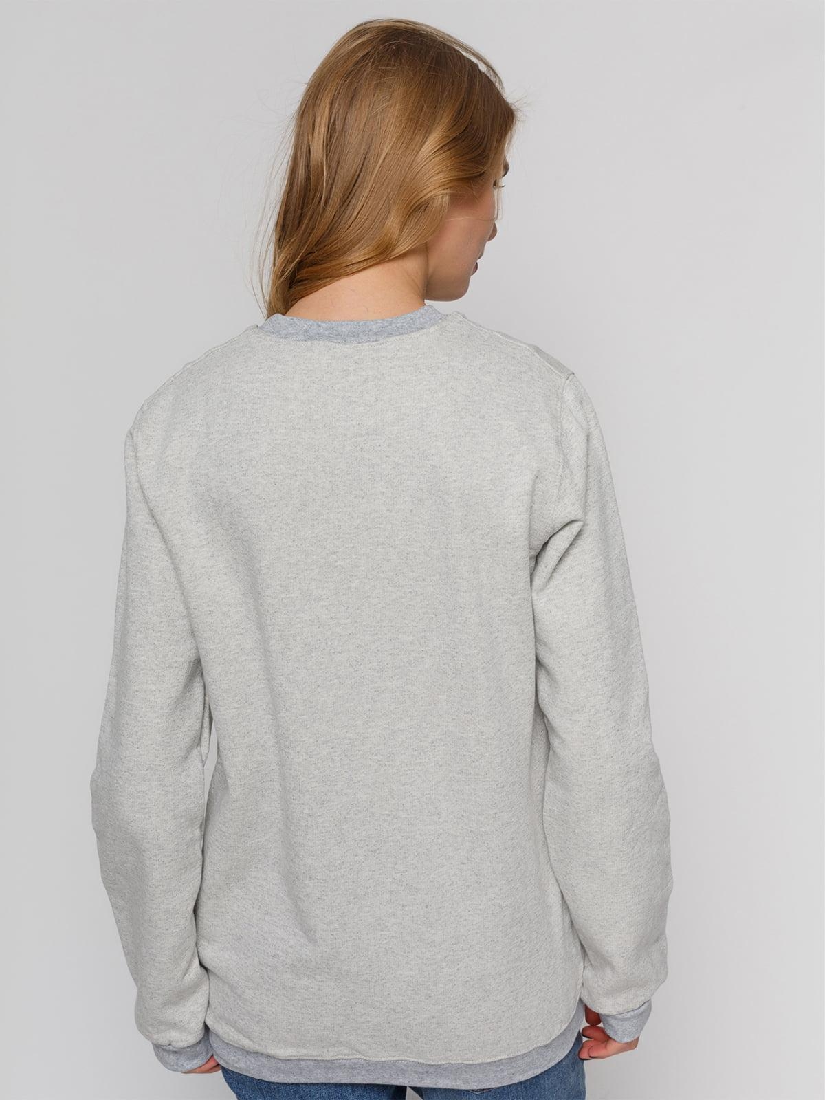 Свитшот серый с принтом | 4861884 | фото 2