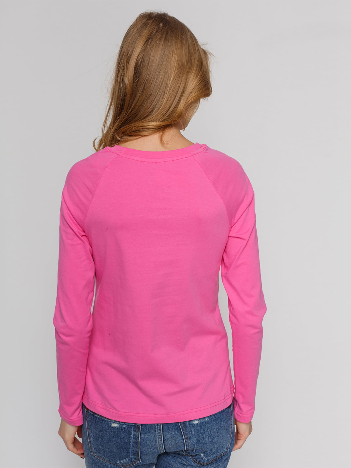 Реглан розовый с принтом | 4861821 | фото 2
