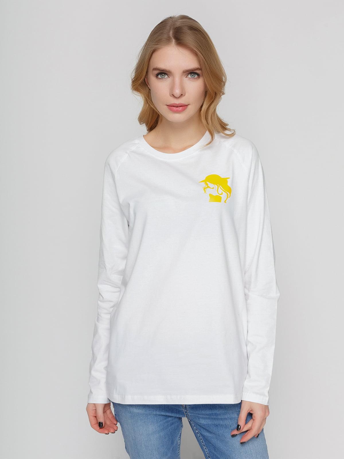 Реглан білий з принтом | 4861798