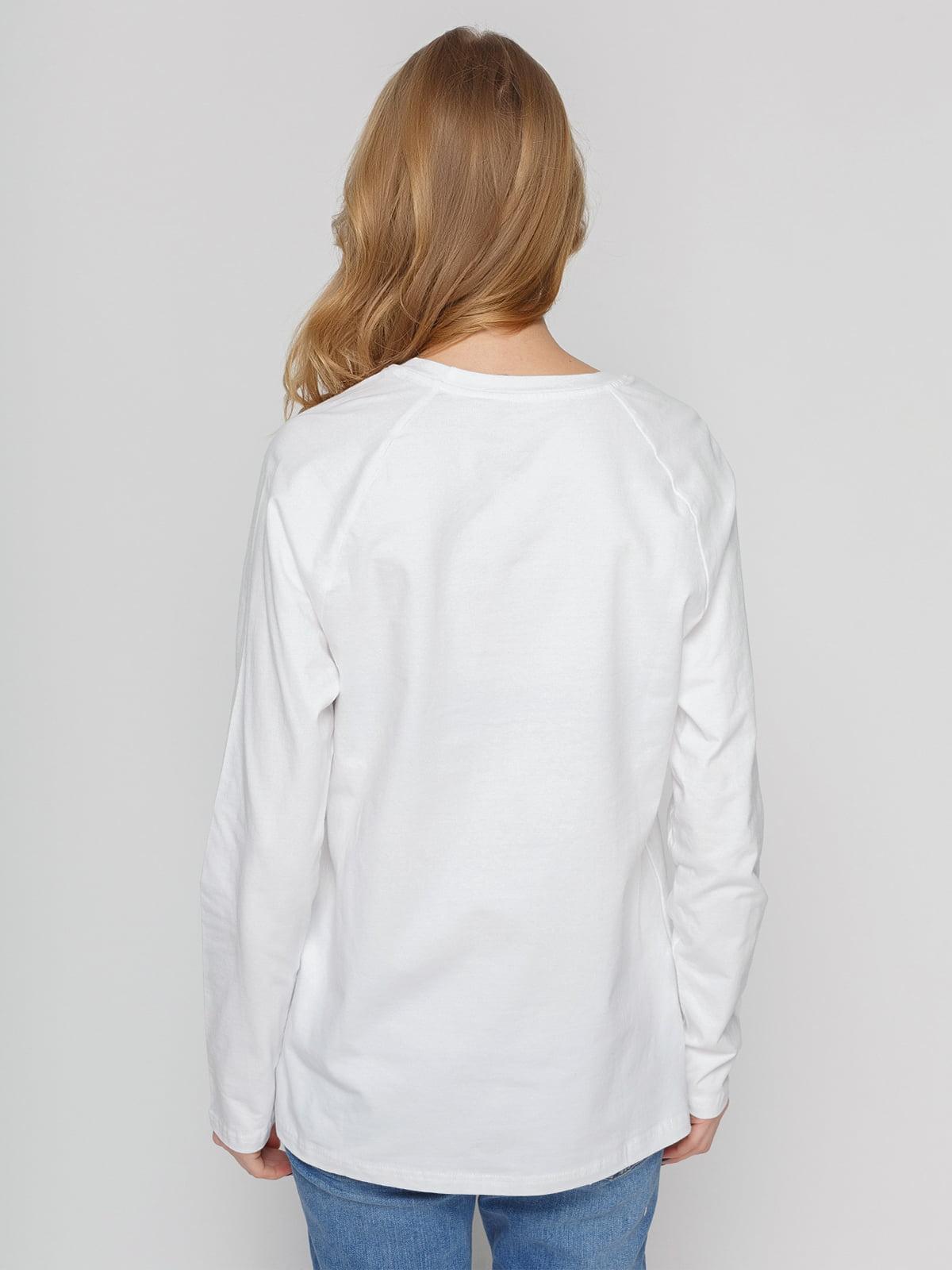 Реглан білий з принтом | 4861798 | фото 2