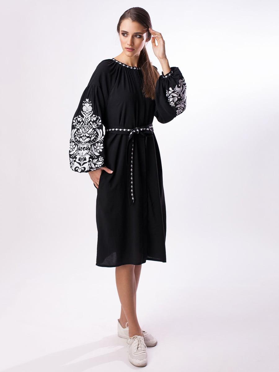 Сукня чорна з вишивкою | 3713210
