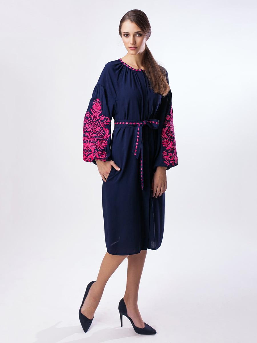 Сукня синя з вишивкою   3714584