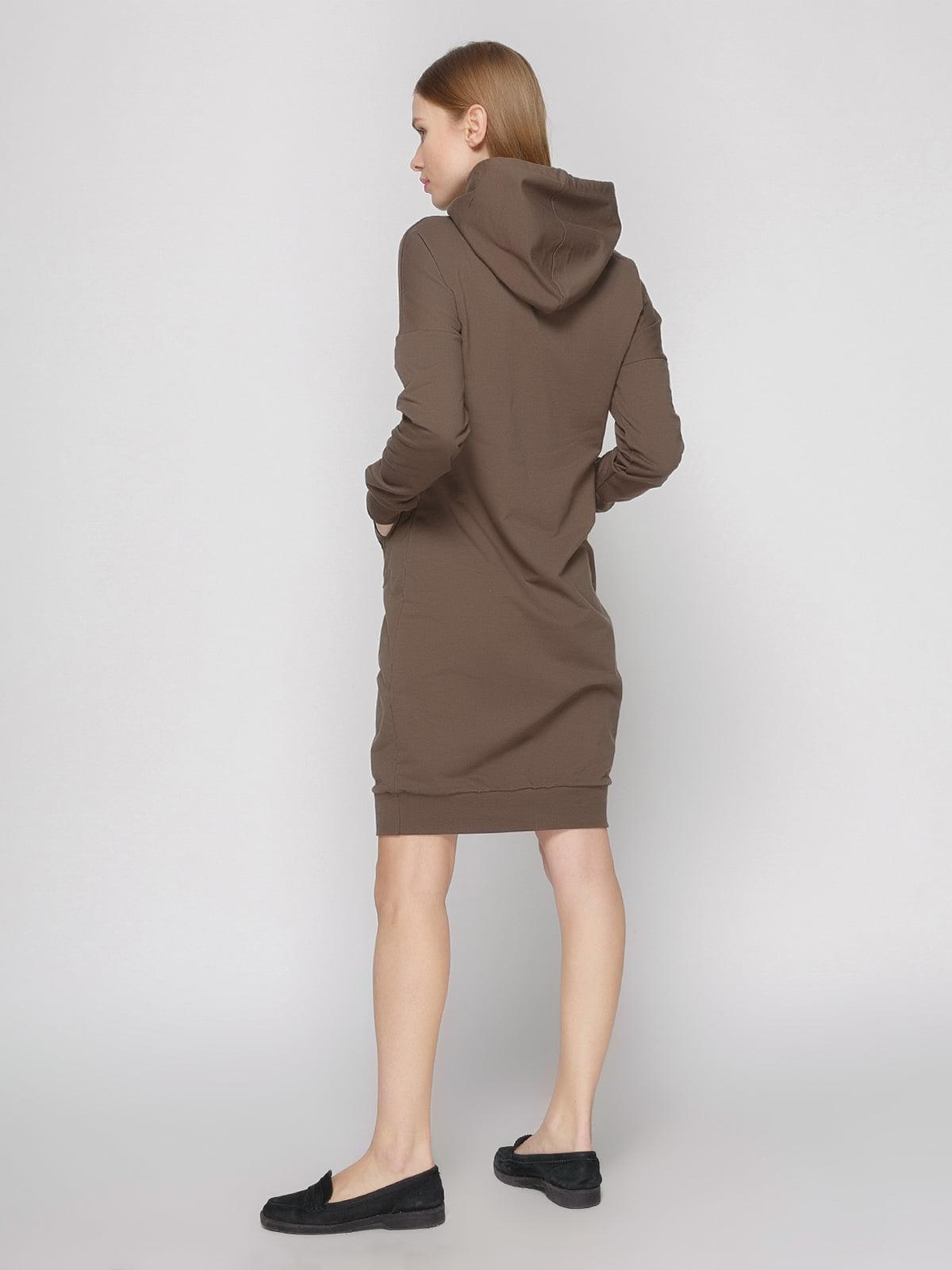 Платье коричневое | 4861818 | фото 2