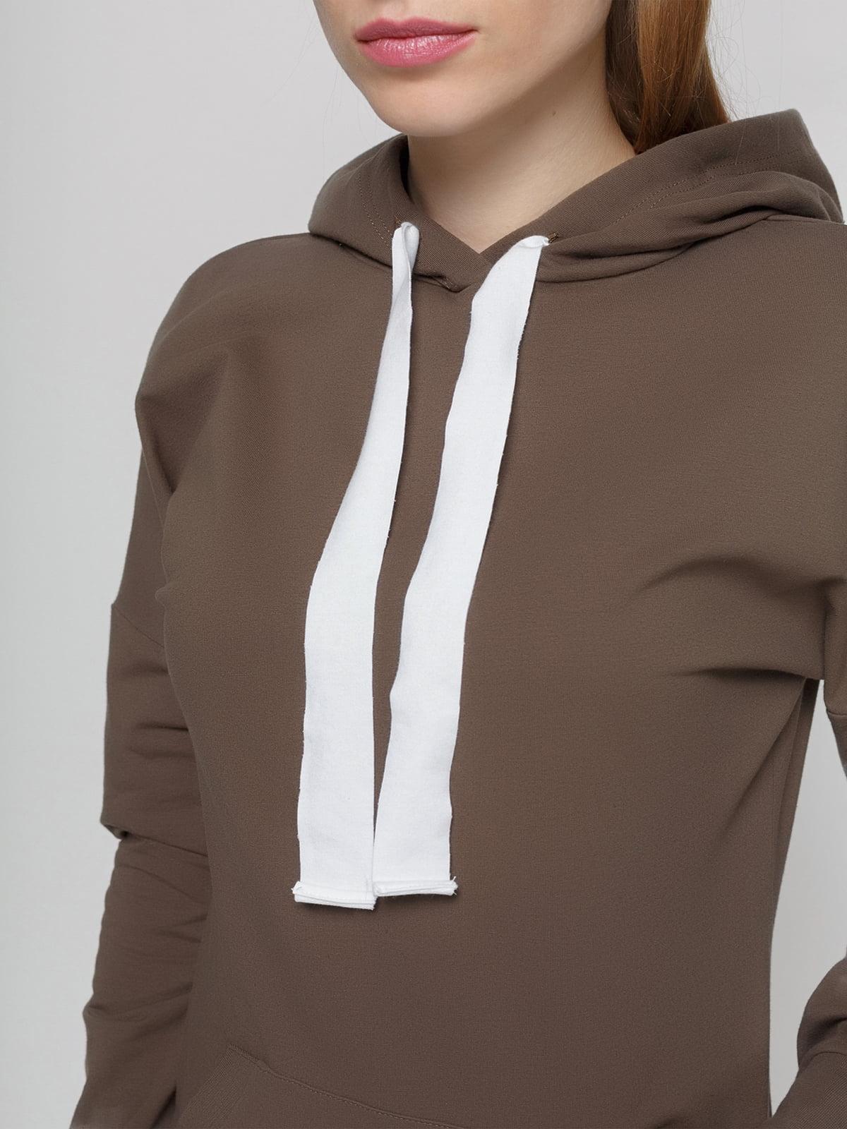 Платье коричневое | 4861818 | фото 3