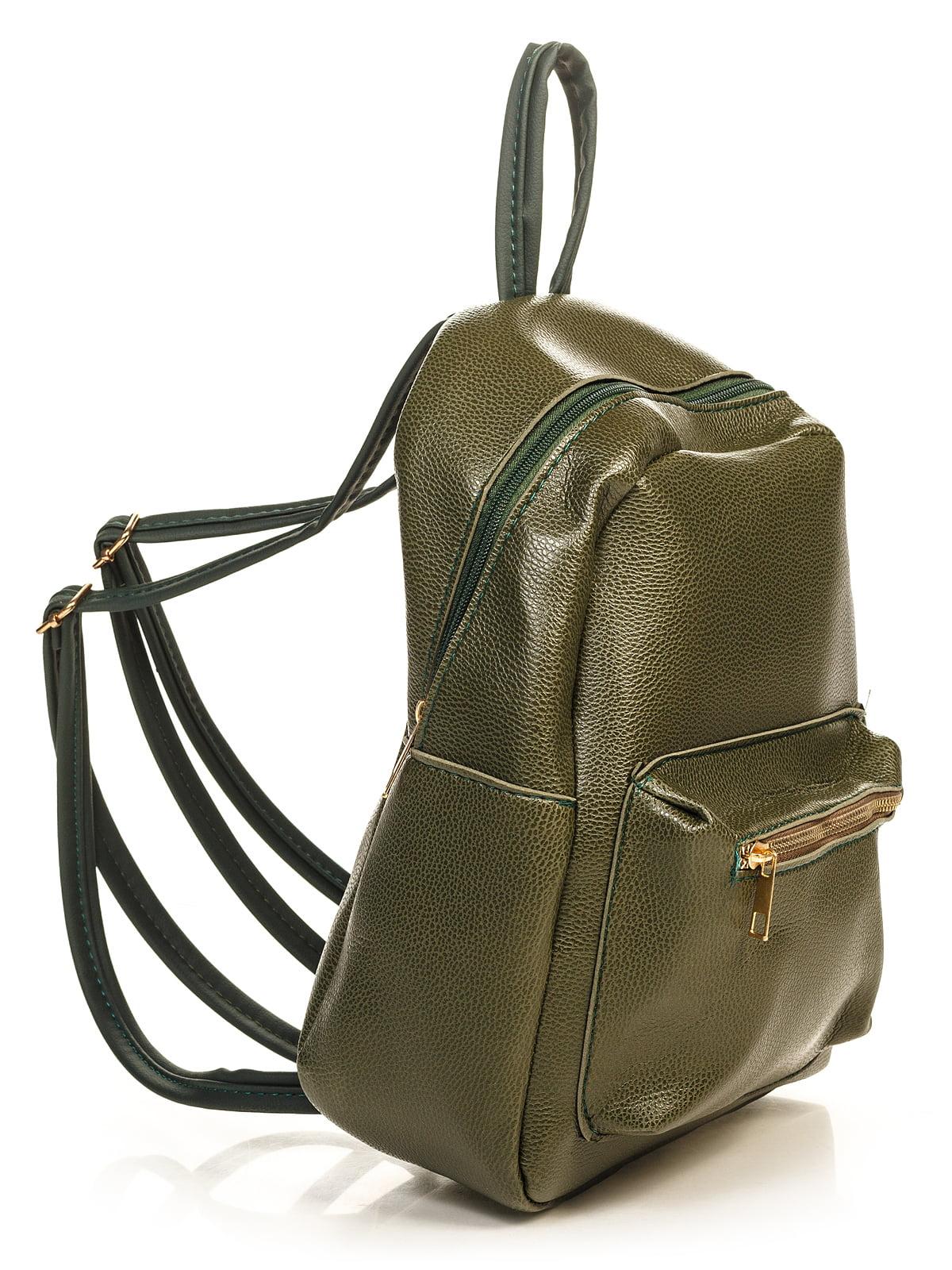 Рюкзак цвета хаки | 4715101 | фото 3