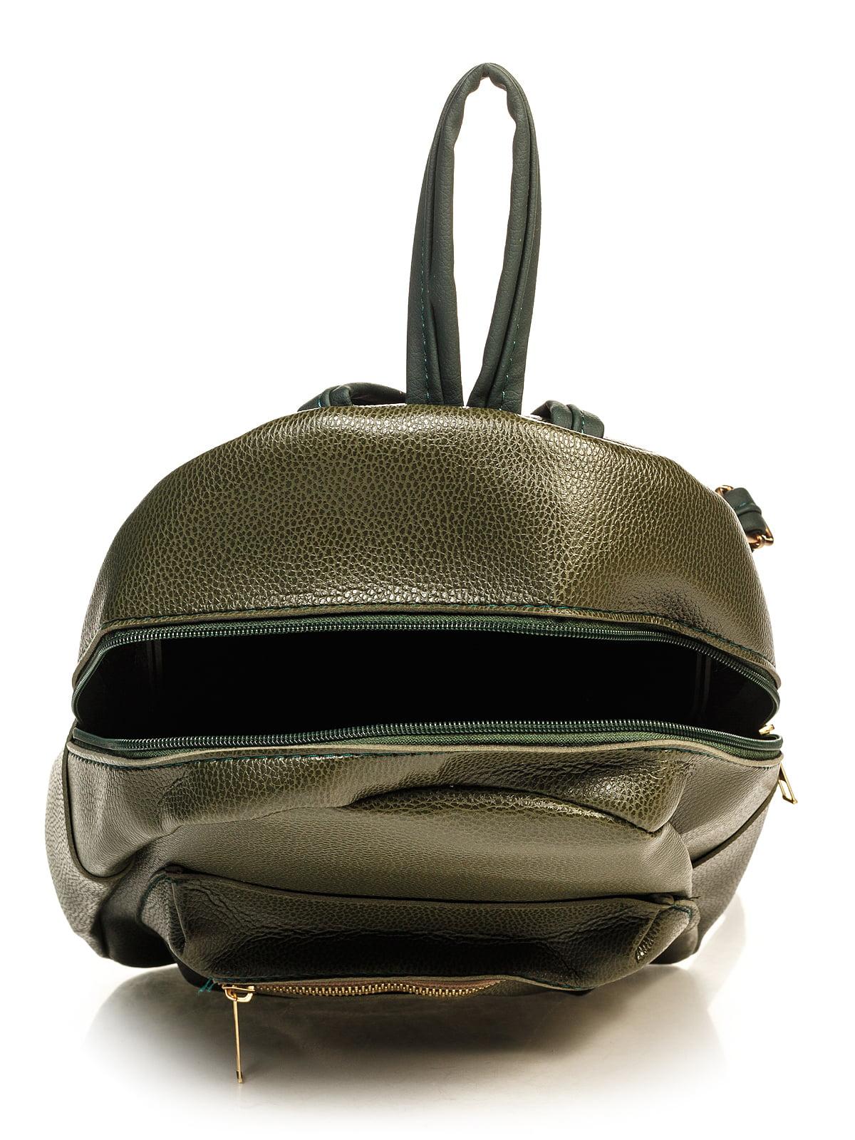 Рюкзак цвета хаки | 4715101 | фото 4