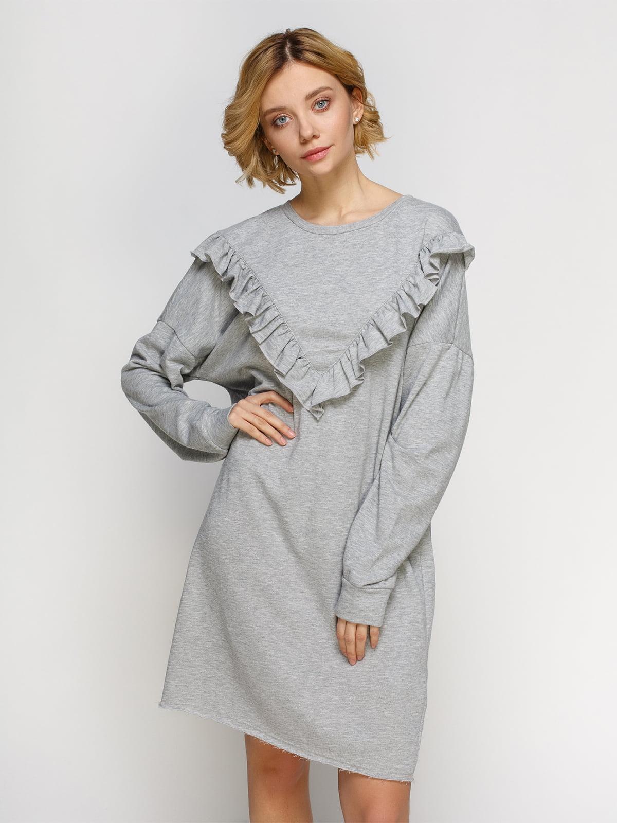 Платье серое | 4545569