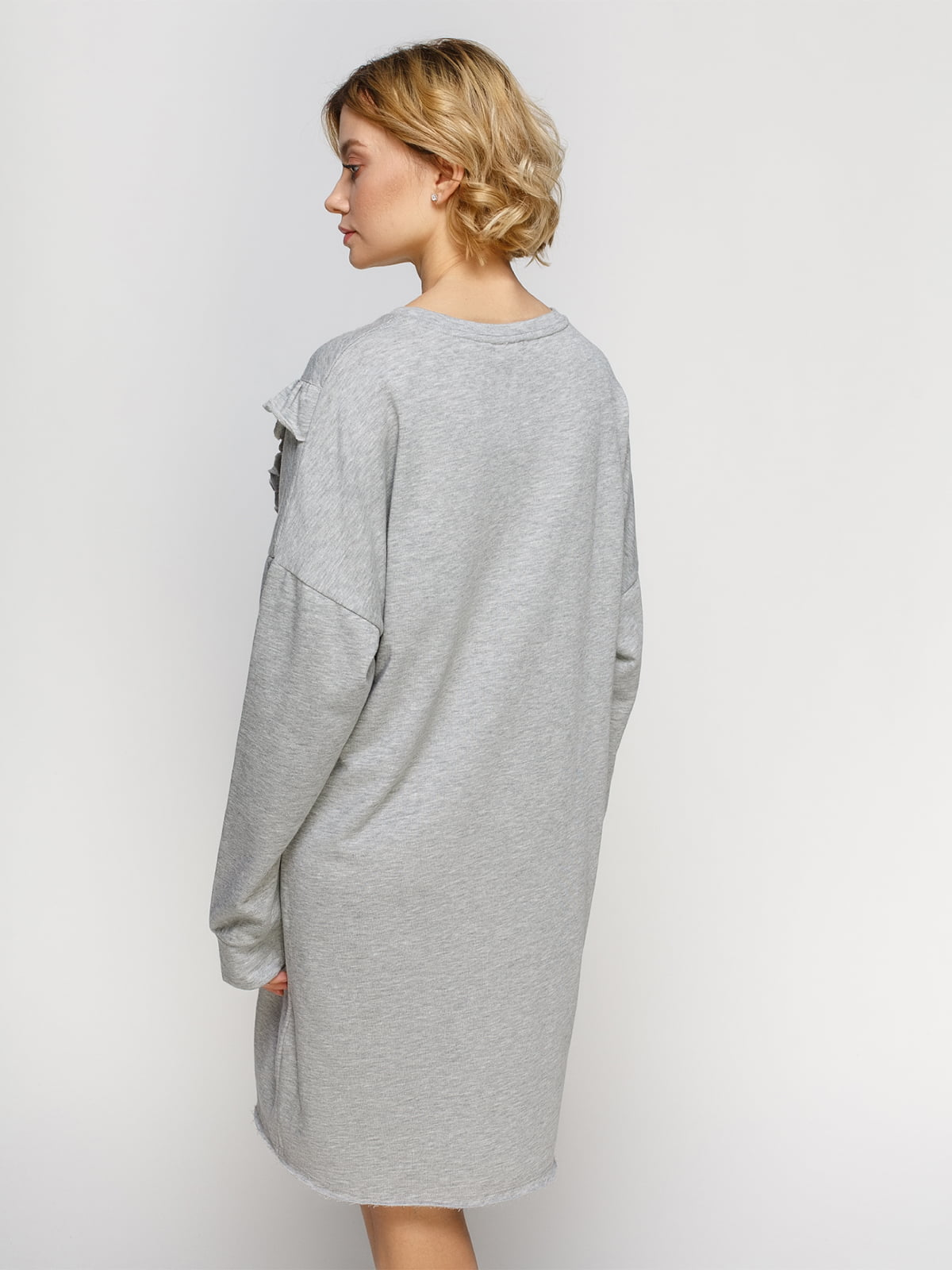 Платье серое | 4545569 | фото 2