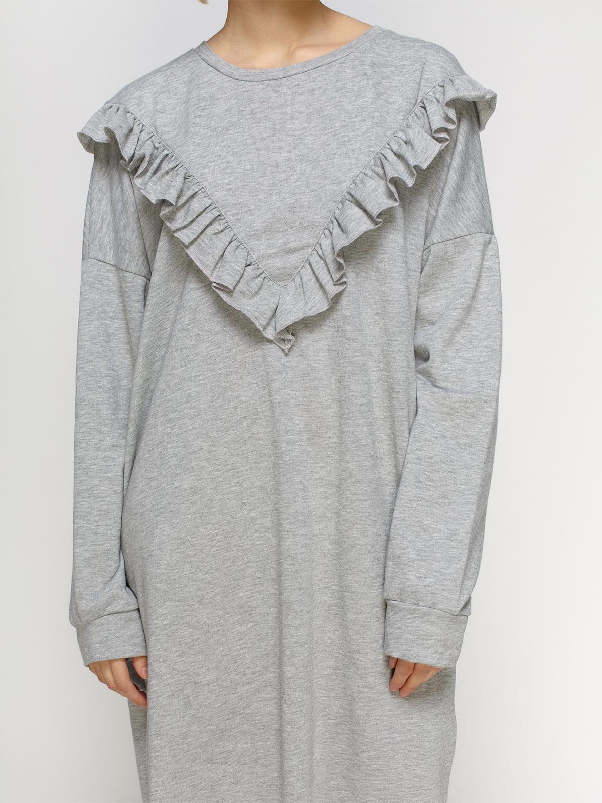Платье серое | 4545569 | фото 3