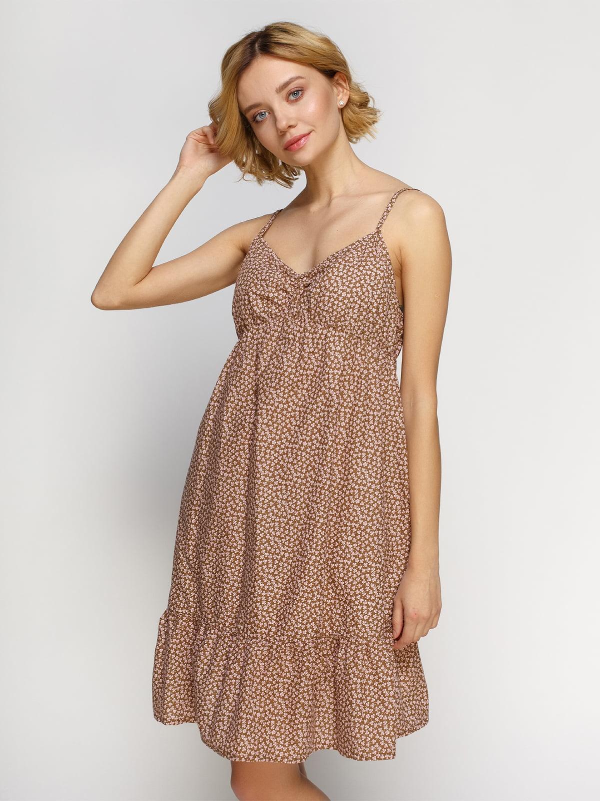 Платье в цветочный принт | 4632629
