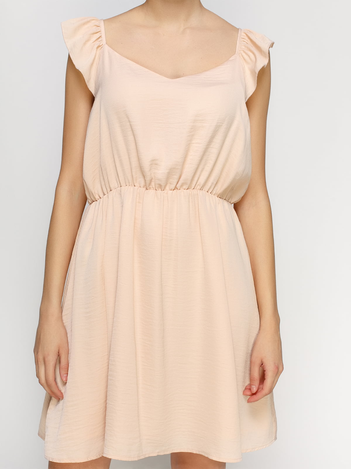 Платье светло-персикового цвета | 4546018 | фото 3