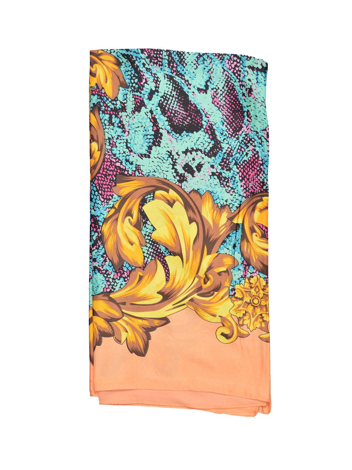 Платок персикового цвета с принтом | 4868260 | фото 2