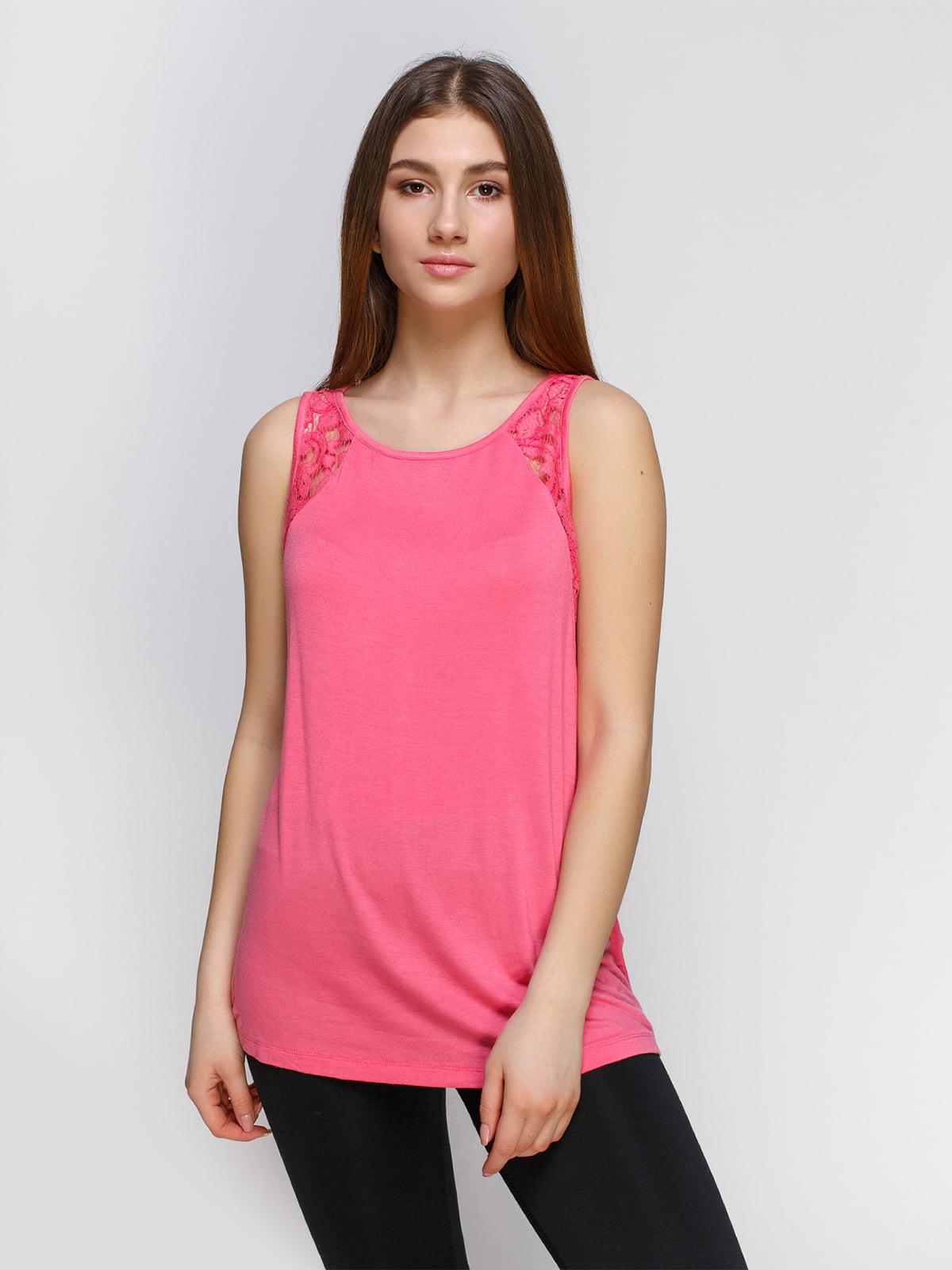 Майка ярко-розовая | 4631468