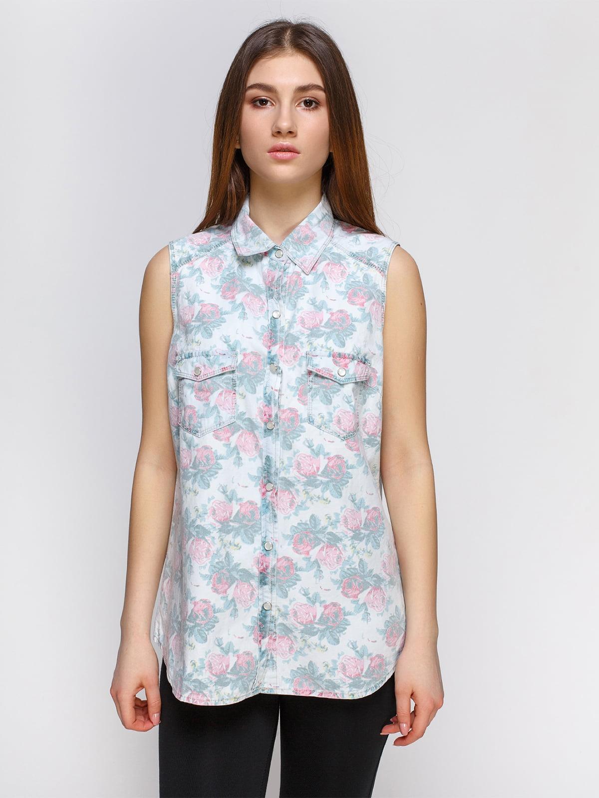 Рубашка в цветочный принт | 4628323
