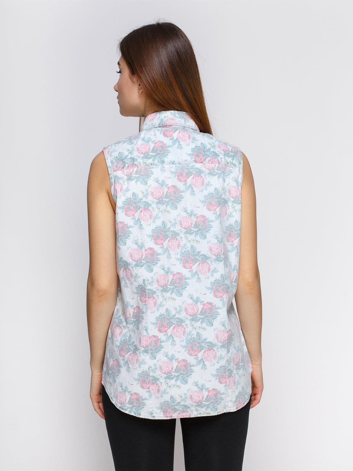 Рубашка в цветочный принт | 4628323 | фото 2