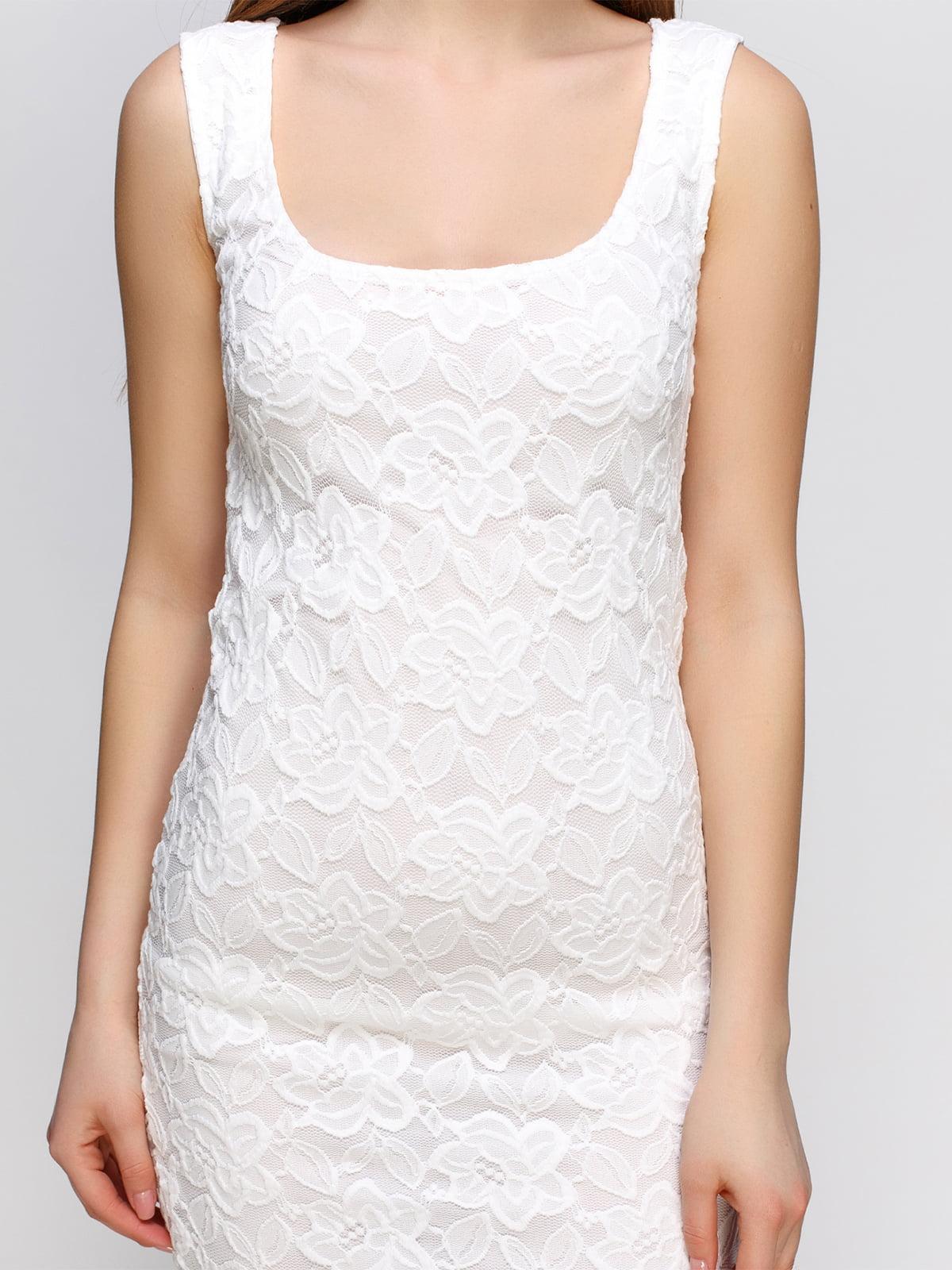 Платье белое | 4546013 | фото 3