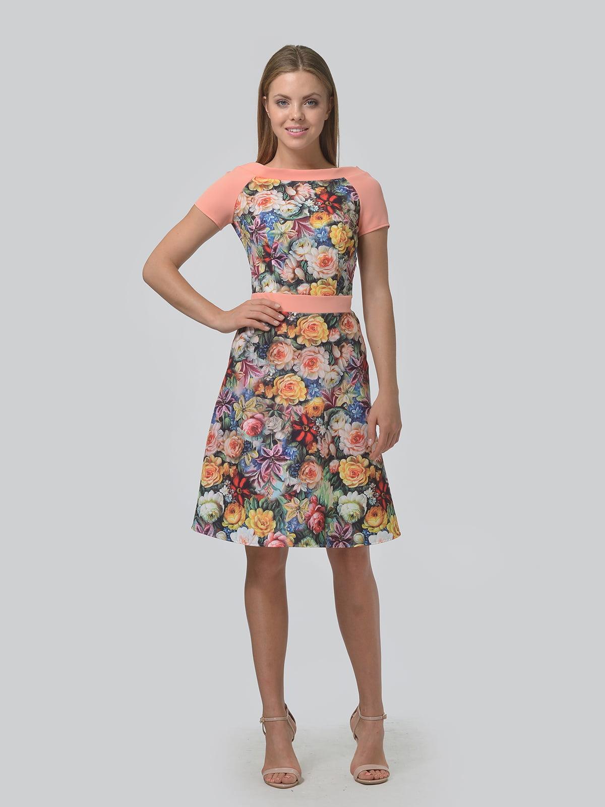 Платье в цветочный принт | 4630357