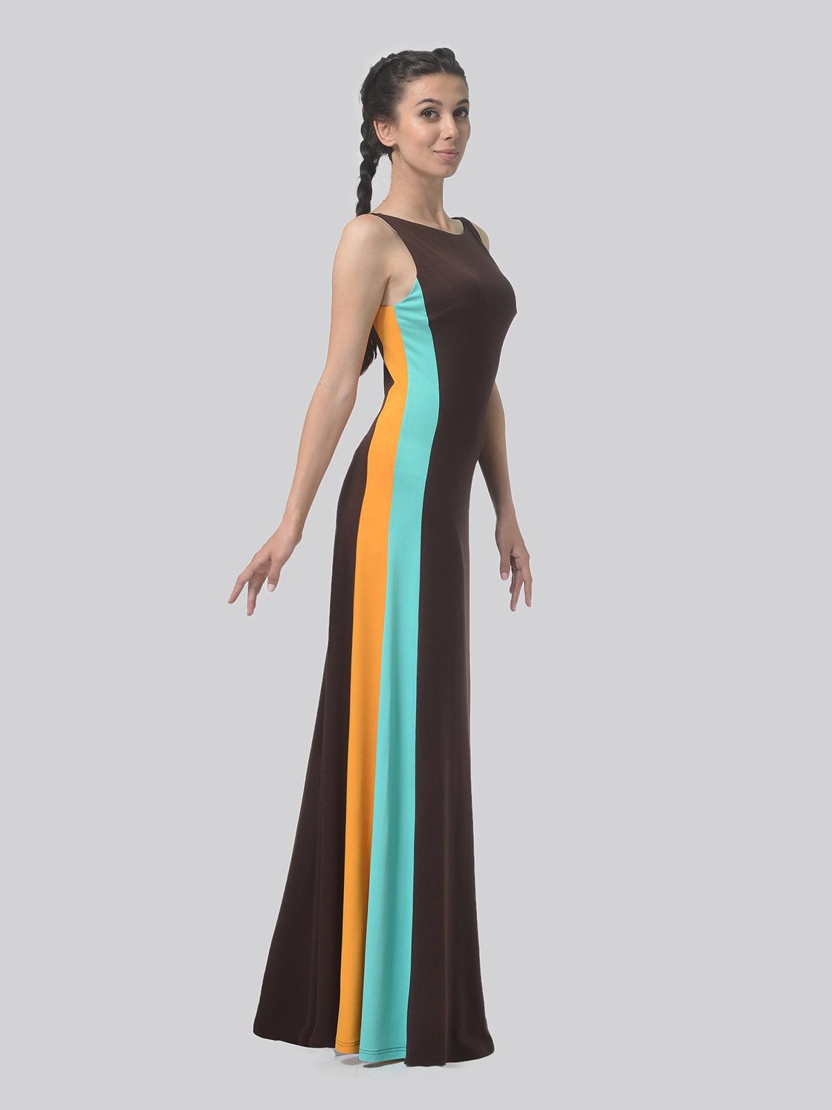 Платье комбинированной расцветки   4783685