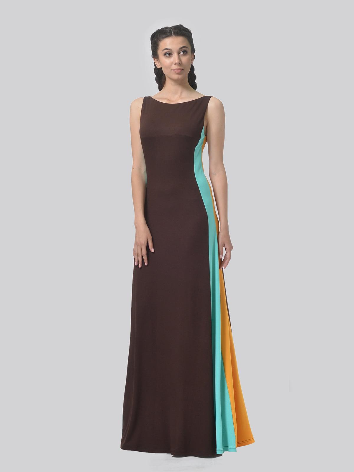 Платье комбинированной расцветки   4783685   фото 2