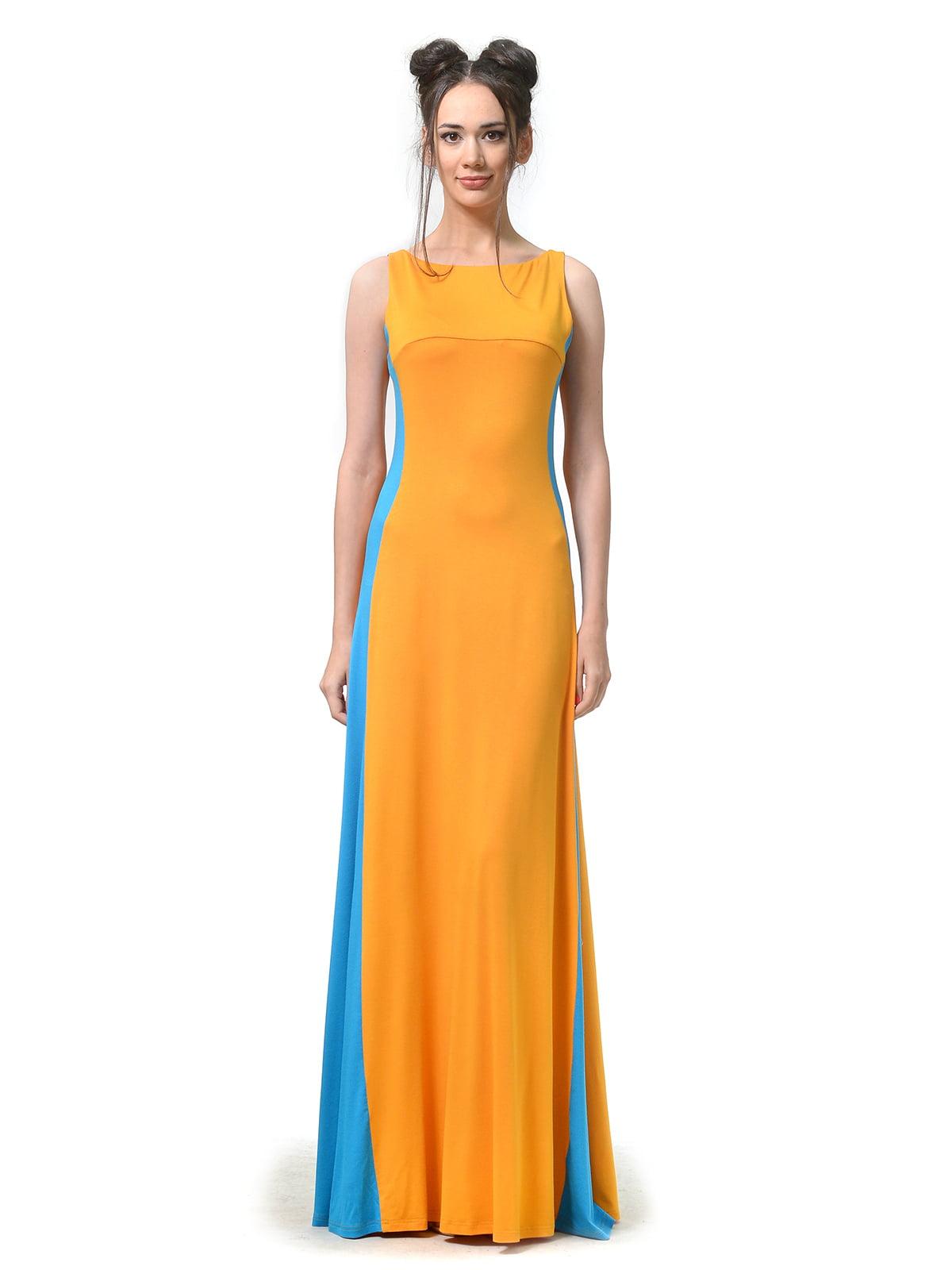 Платье комбинированной расцветки | 4783686