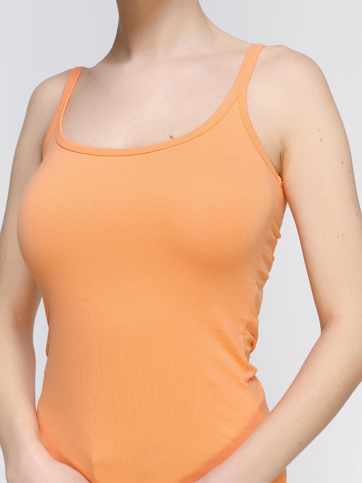 Майка оранжевая | 3782313 | фото 3
