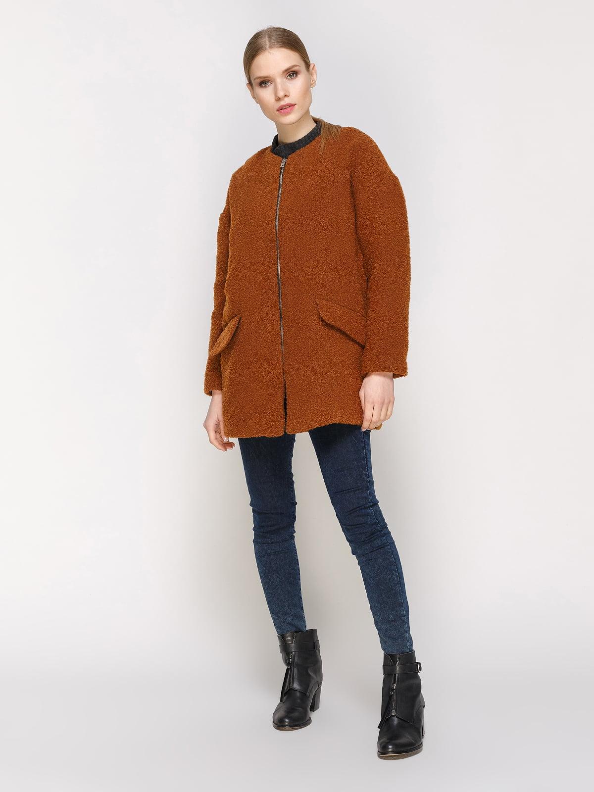 Пальто коричневое | 4791398 | фото 2