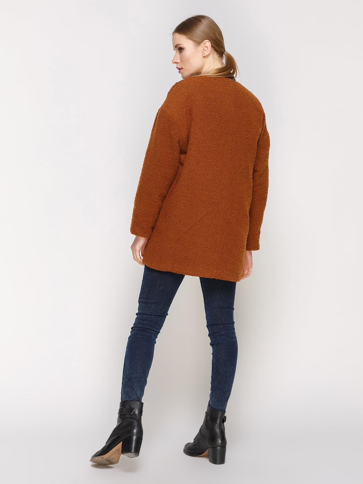 Пальто коричневое | 4791398 | фото 3