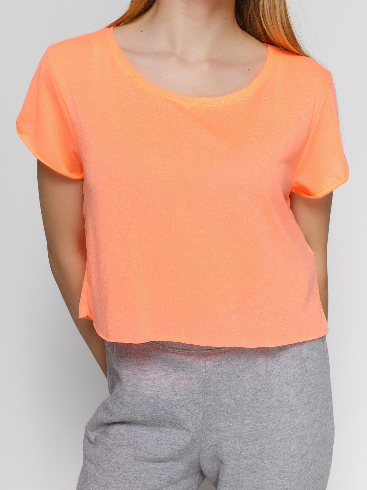 Топ персикового цвета | 3782689 | фото 3