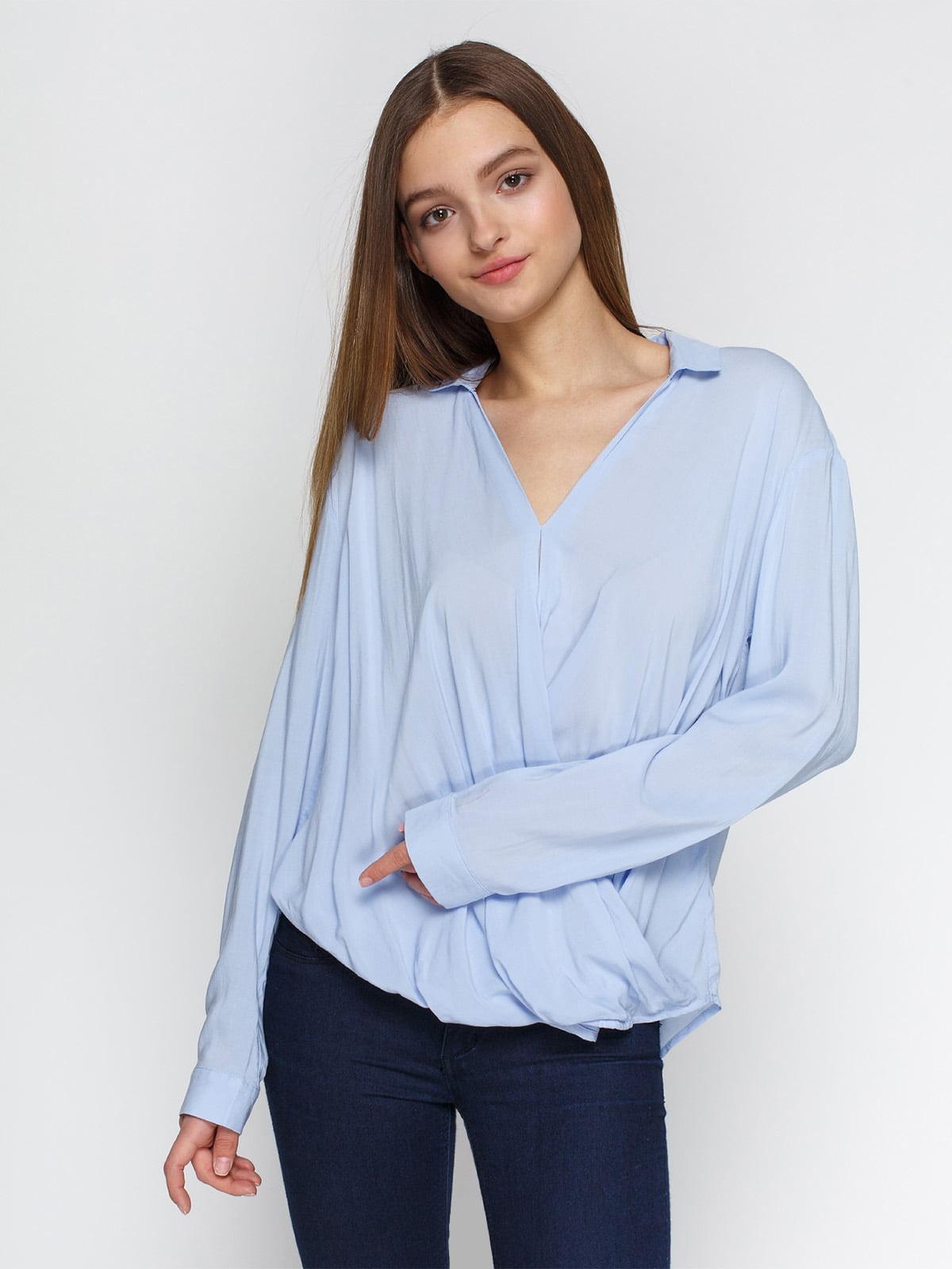 Блуза голубая | 4546605