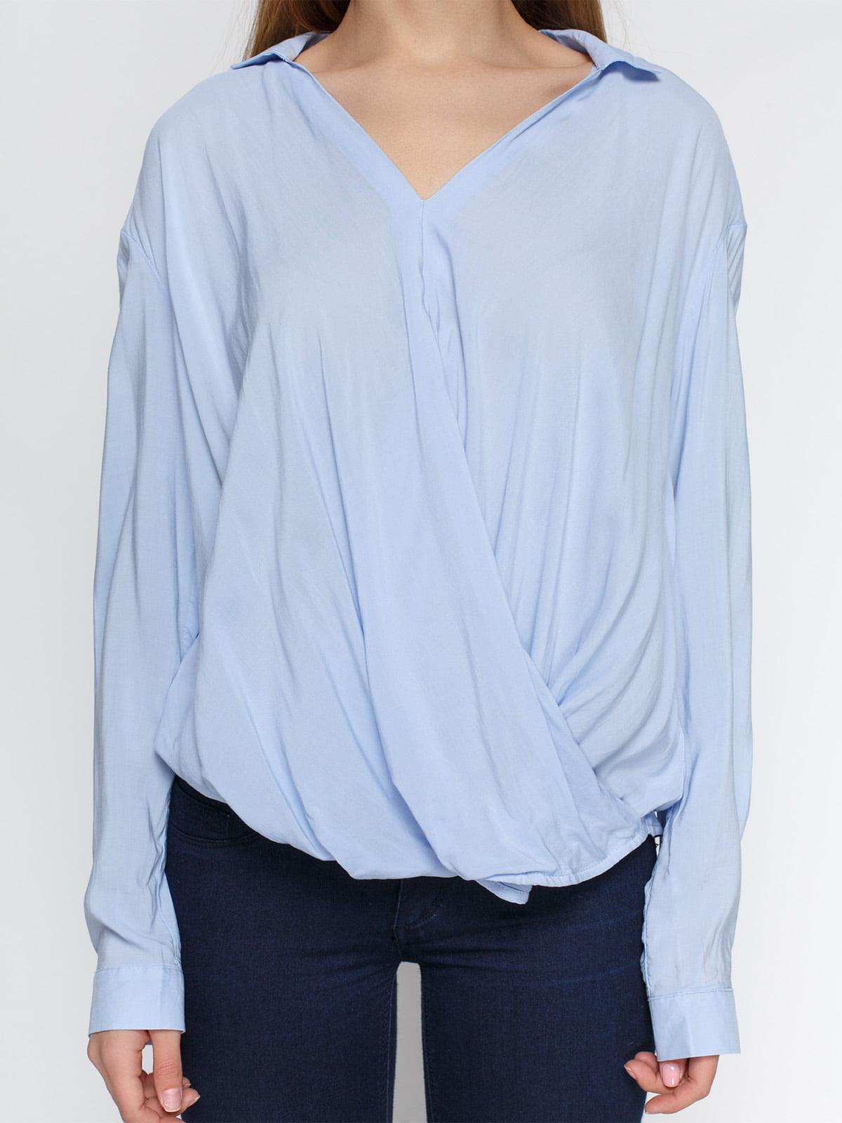 Блуза голубая | 4546605 | фото 3