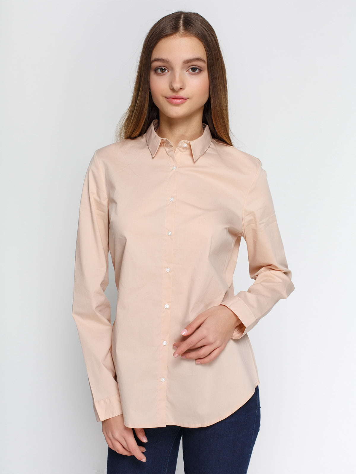 Рубашка цвета пудры | 4546611