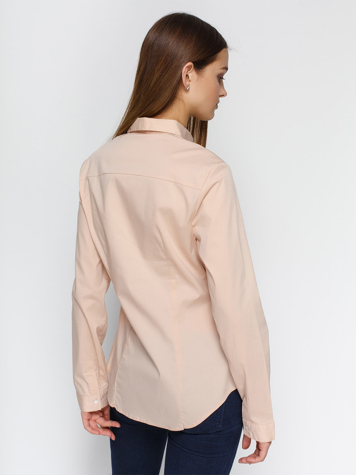 Рубашка цвета пудры | 4546611 | фото 2