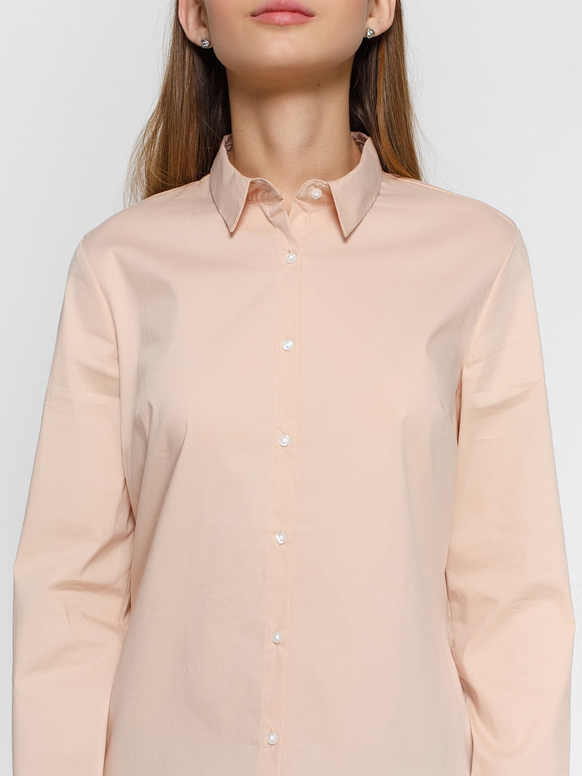 Рубашка цвета пудры | 4546611 | фото 3