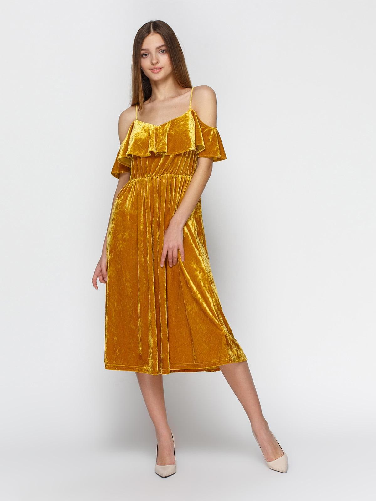 Платье желтое | 4546056
