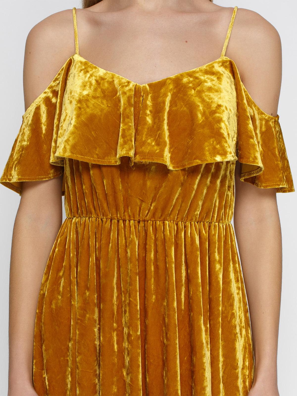 Платье желтое | 4546056 | фото 3