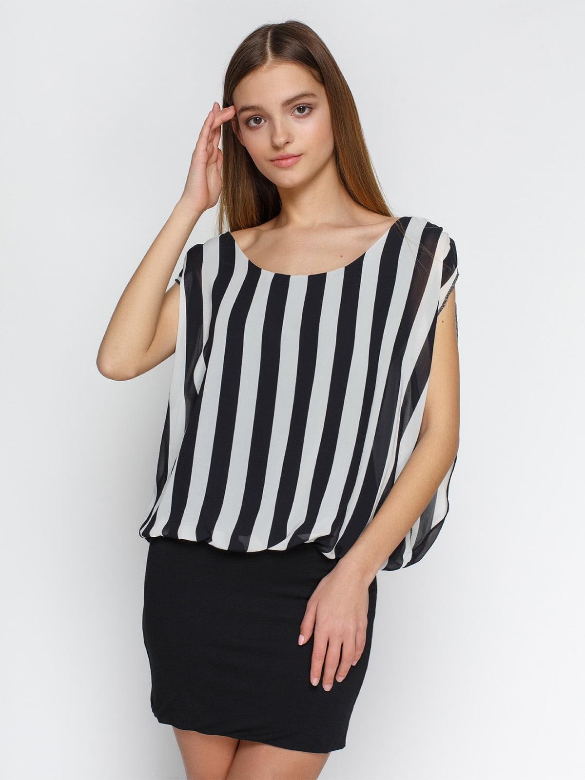 Платье черное в полоску | 4632570