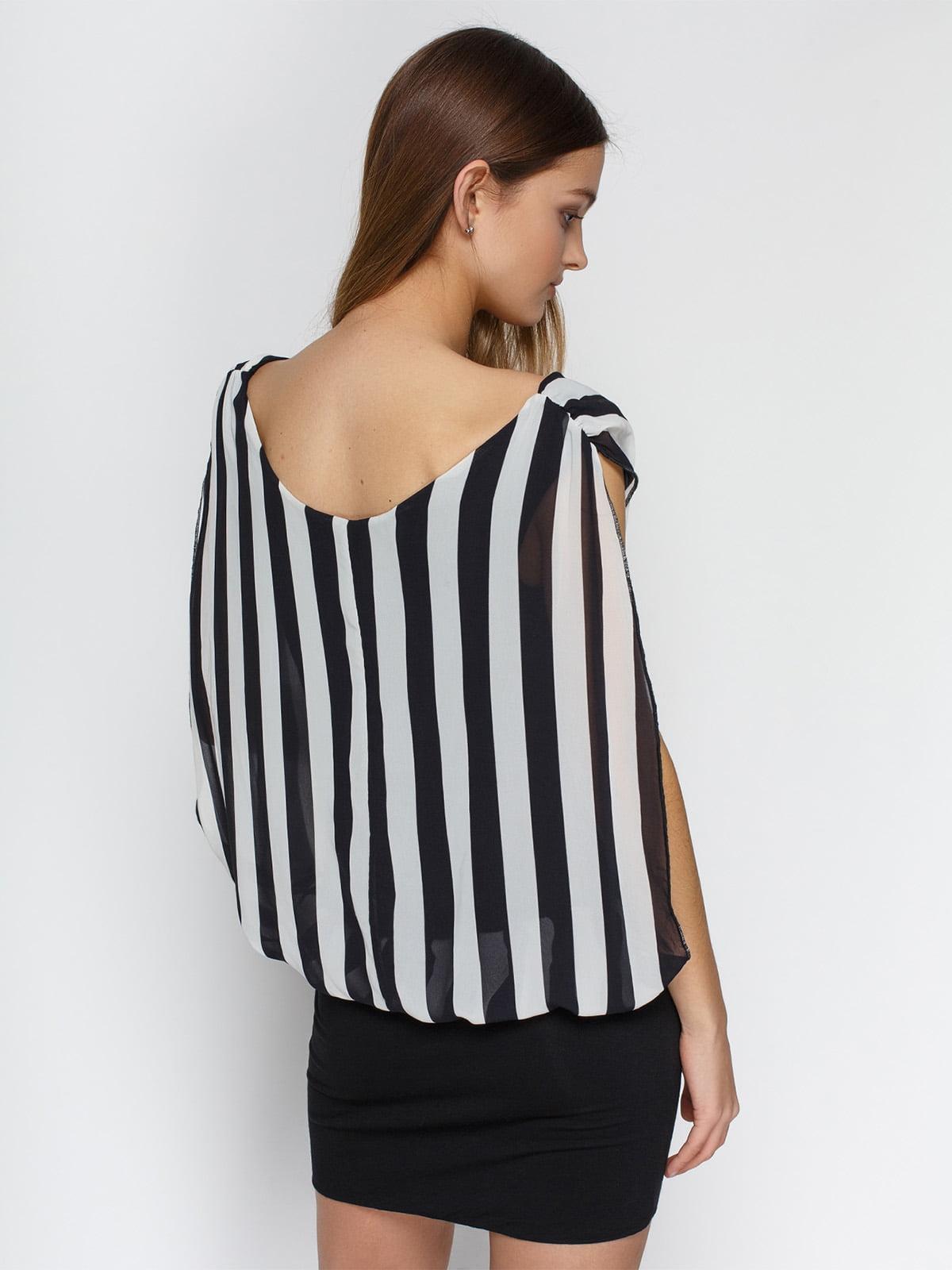 Платье черное в полоску | 4632570 | фото 2