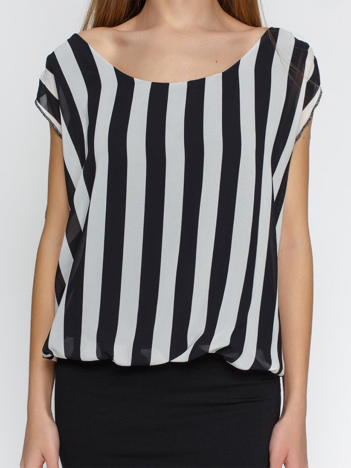 Платье черное в полоску | 4632570 | фото 3