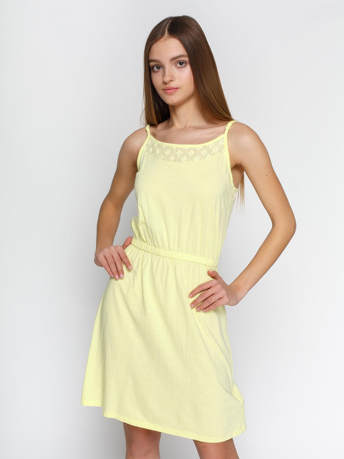 Платье желтое | 4632652