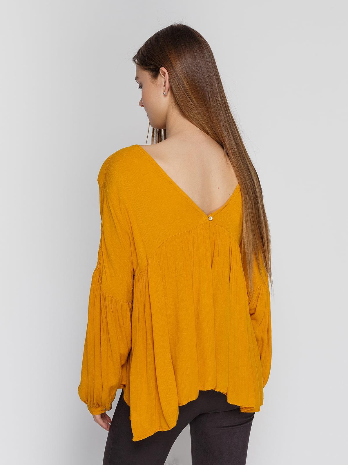 Блуза горчичного цвета   4628334   фото 2