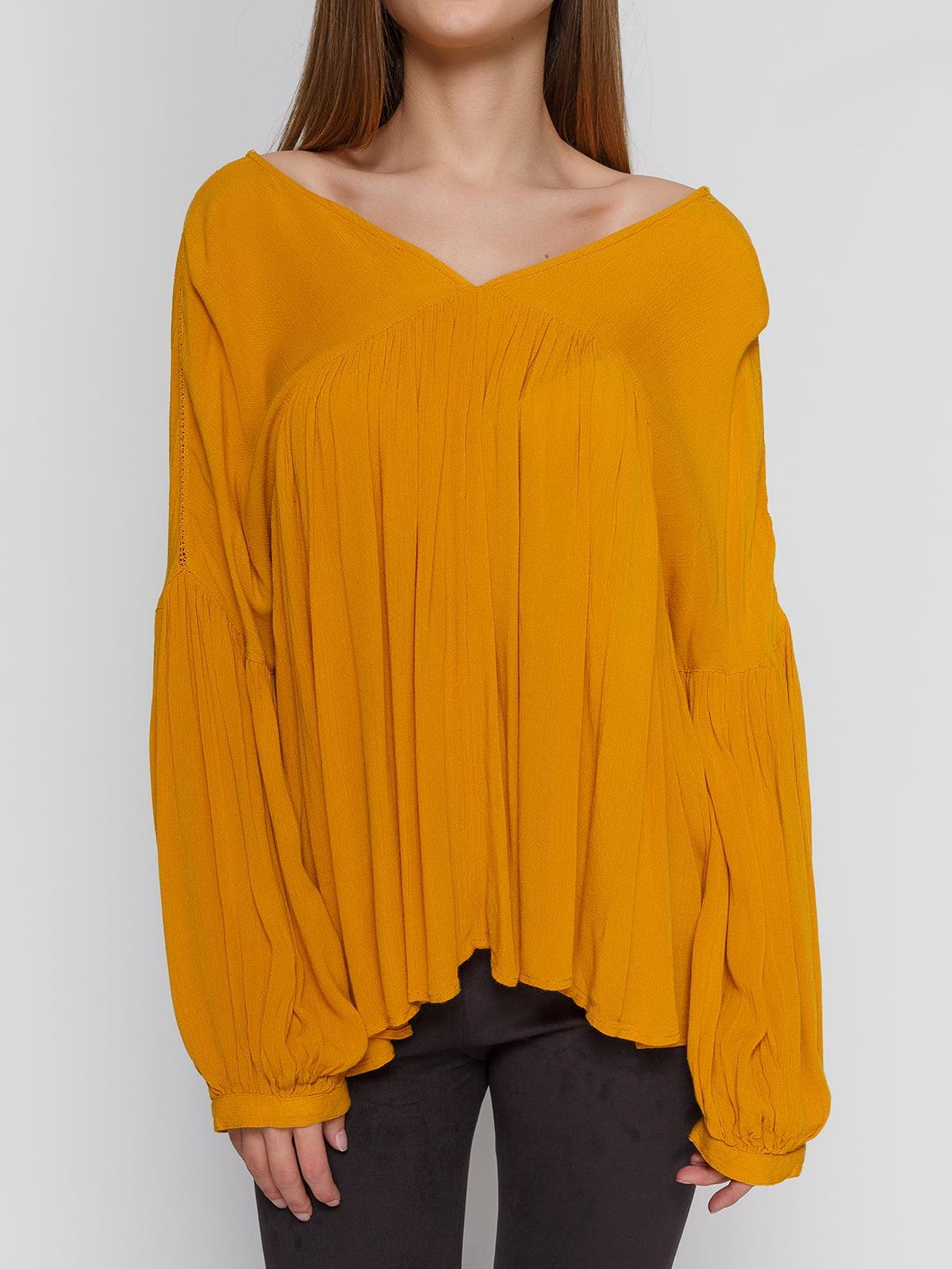 Блуза горчичного цвета   4628334   фото 3