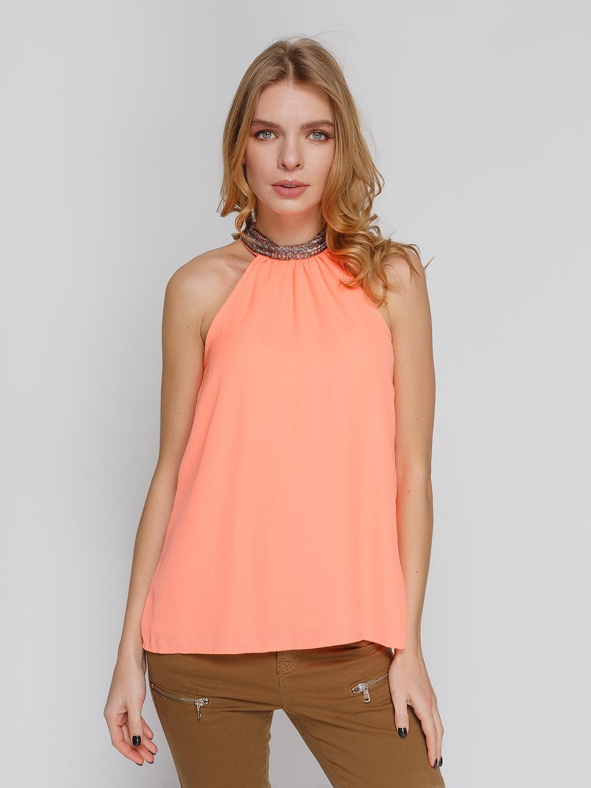 Блуза персикового цвета   4628343