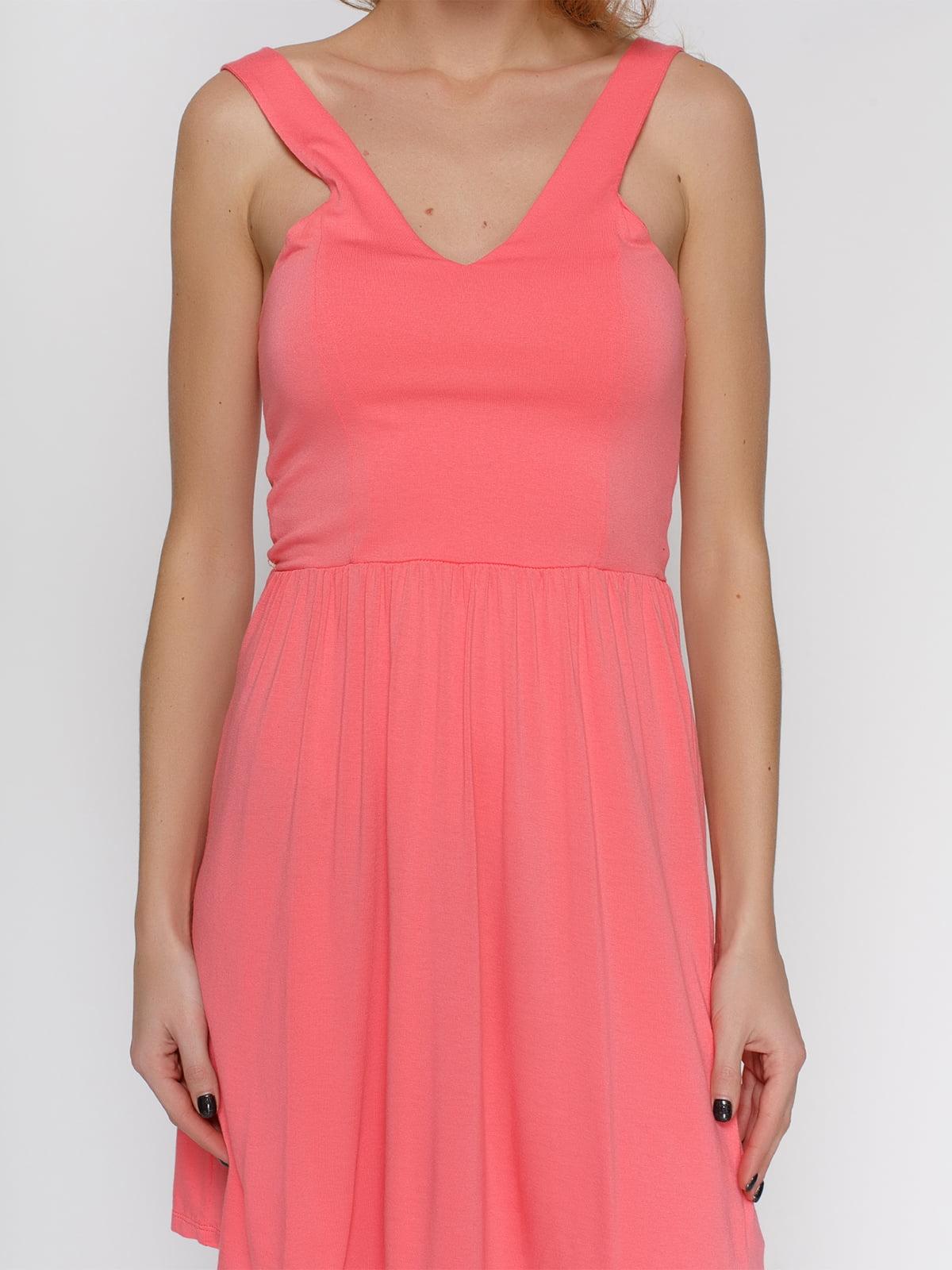 Платье лососевого цвета | 4632659 | фото 3