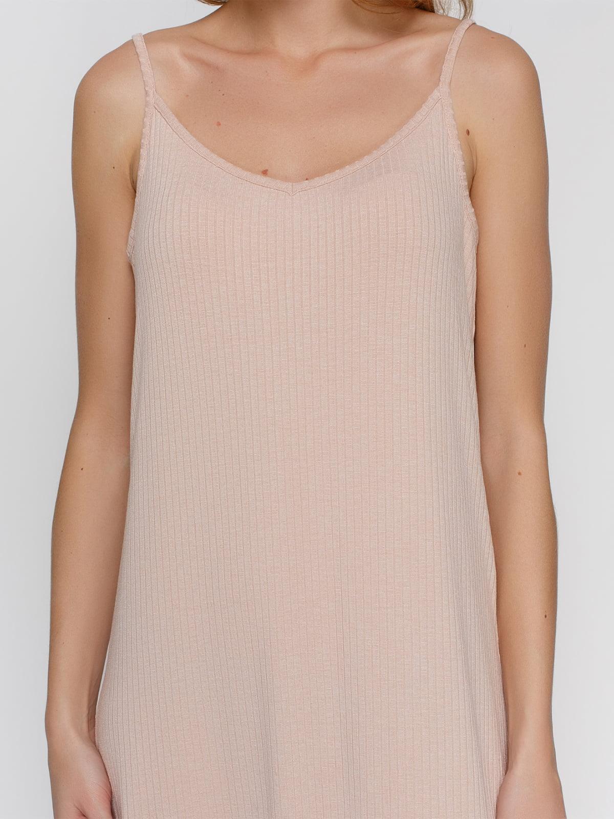 Платье бежевое | 3927242 | фото 3