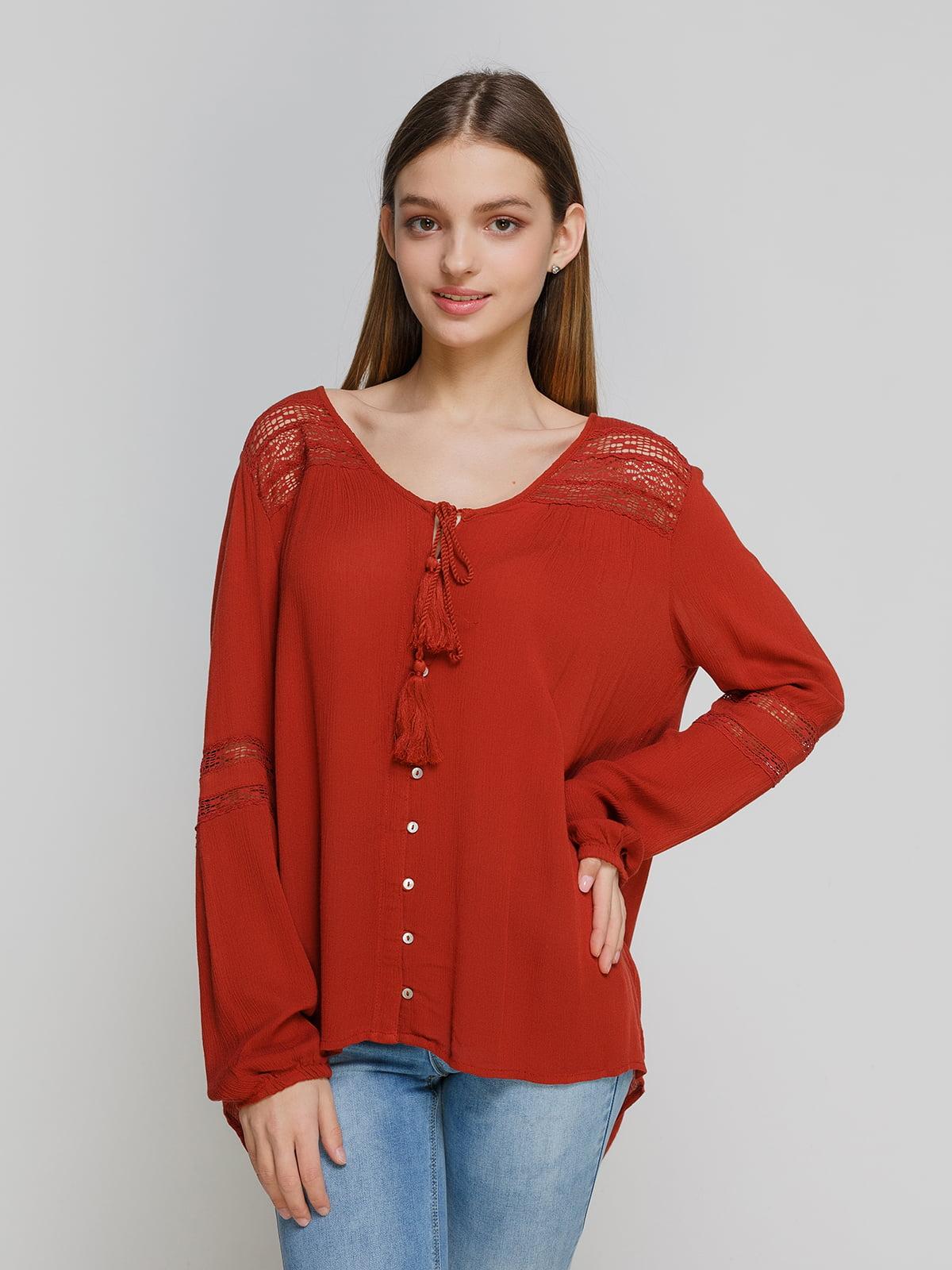 Блуза терракотовая   4628327