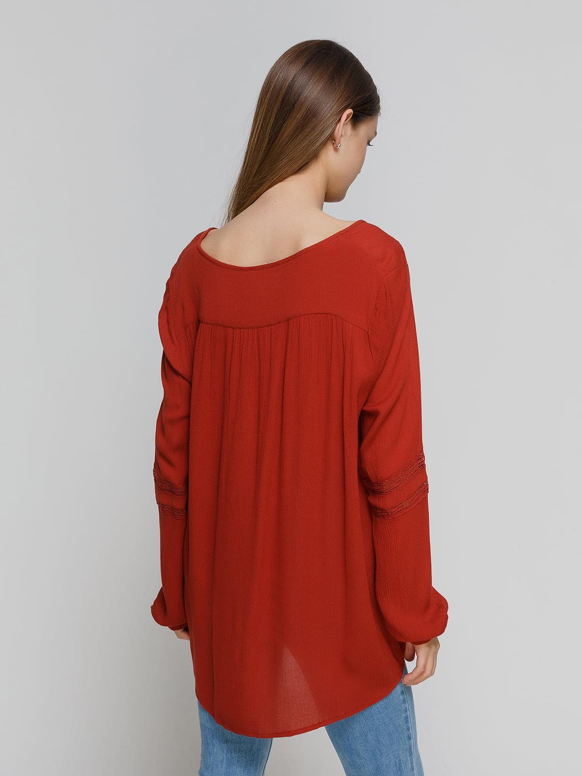Блуза терракотовая   4628327   фото 2